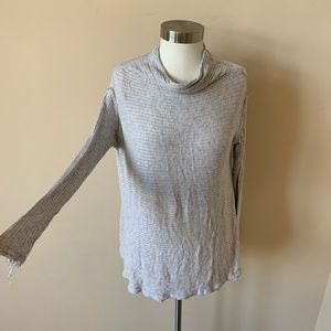 Free People long sleeve ribbed knit top #6188
